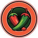 Chili Pepper,Pepper - Vegetable,Mexican Culture,Vector,Circle,Cartoon,Red,Ilustration,Vector Cartoons,Illustrations And Vector Art,Food And Drink,Green Color,Copy Space