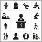 Women,Sitting,Stick - Plant Part,Nurse,Running,Wheelchair,Praying,Flat,People,Sparse,Simplicity,Isolated,Vector,Chair,Design,Black Color,Ideas,Image,Males,Illustration,Sign,Disability,Information Medium,Consultant,Set,Men,Creativity,Silhouette,Overweight,Walking Cane,Blindness,Patient,Restaurant,Waiter,Walking,Characters,Human Face,Human Head,Businessman,Dentist,Internet,Design Element,White,Concepts,Number 13,Collection,Females,One Person,Data,Desk,Symbol