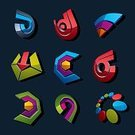 Business,Circle,Sign,Symbol,Shape,Isolated,Single Object,Design,Geometric Shape,Success,Multi Colored,Interface Icons,Abstract,Collection,Set,Marketing,Computer Graphic,Insignia,Multimedia,Sound Wave,Design Element,Arrow Symbol,Direction,Simplicity,Three-dimensional Shape,Three Dimensional,Internet,Vector