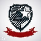 Medal,Celebration,Shape,Vector,Insignia,Single Object,Symbol,Retro Styled,Propaganda,Armed Forces,Sheriff,Army,Incentive,Award,Shield,Security,Star Shape,Success,Badge,Coat Of Arms,Computer Graphic,Sign,Design Element,Isolated,Design,Token,Posing,Ornate,Police Force,Comet,Honor,Defending,Pentagon,Protection,Former Soviet Union