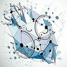 Abstract,Modern,Bauhaus,Multi-Layered Effect,Circle,Wallpaper Pattern,Art,Fractal,Backgrounds,Computer Graphic,Futuristic,Hexagon,Deformed,Broken,Exploding,Diminishing Perspective,Retro Styled,Blue,Connection,Communication,Design,Three-dimensional Shape,Grid,Pattern,Placard,Wire Frame,Textured,Technology,Single Object,Part Of,Demolished,Wire Mesh,Backdrop,Low Poly,Vector