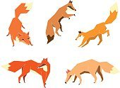 Action,Cartoon,Cute,Dog,Vector,Animals In The Wild,Fox