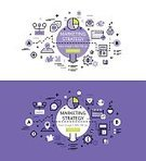 Life Events,Calculating,Map Pointer,Business,Plan,Planning,Green Button,Lilac Background,Flask,Chart,marketing strategy,Banner Set,E-Mail,White Background,Vector,Graph,Web Banners,Outline,Single Line,Illustration,Straight