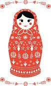 Russian Nesting Doll,Craft Product,Red,Floral Pattern,Ornate,Babies And Children,Lifestyle,Vector Cartoons,White,Human Face,Toy,Illustrations And Vector Art