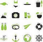 Saver,Silhouette,Symbol,Cocktail,Tourist,Season,Summer,Wave,Sand,Sea,Beach,Computer Icon,Illustration,Vector,Collection,Travel,Icon Set,Vacations,Sunglasses,