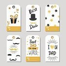 templates,Design,Holiday,Text,Elegance,Style,congrats,Colors,Glowing,Bright,Black Color,Gold Colored,Gift,Creativity,Glitter,Mustache,Label,Father's Day,Collection,Set,Vector,Coloring Book