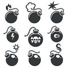 Vector,Human Skull,Computer Icon,Symbol,Circle,Design,Danger,Illustration,Army,Armed Forces,Military,Skull and Crossbones,Weapon,Simplicity,Ideas,Burning,Internet,Warning Sign,Silhouette,War,Single Object,Spark,Backgrounds,Hand Grenade,flammable,Explosive,Bomb,Explosive Fuse,Aggression,Boom,Harassment,Part Of,Conflict,Isolated,Exploding,Ball,Sign,Destruction,Violence,Flat,Damaged,Fire - Natural Phenomenon,Metal,Dynamite,Concepts,Threats,Timer,Monochrome,Ignition