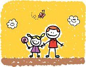Father,Father's Day,Daughter,Child's Drawing,Family,Mothers Day,Cartoon,Happiness,Cheerful,Little Girls,Baby Girls,Drawing - Art Product,Doodle,Teenager,Small,Teenage Girls,Butterfly - Insect,Vector,Love,Ilustration,Positive Emotion,Summer,Sketch,Cute,Standing,Image,Looking At Camera,Cloud - Sky,Male,People,Pencil Drawing,Illustrations And Vector Art,Vector Cartoons,Smiling