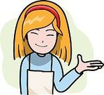 Cartoon,Doodle,Occupation,Sketch,Pencil Drawing,Girls,Illustration,Vector,Women,Smiling,Assistance,Greeting,Chef,People,Service,Waitress