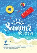 Summer,Flyer,Sand,Sea,Water,Directly Above,Ripple,Beach,Calligraphy,Text,Beach Ball,Coastline,Pool Raft,Vector,Tourist Resort,Nature,Water Surface,Travel,a5,Vacations,Turquoise Colored,Illustration,Inflatable Ring,High Angle View,Design,Backgrounds,Brochure,template,Abstract