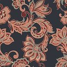 Decoration,Vector,Old-fashioned,Seamless,Flower,Pattern,Floral Pattern