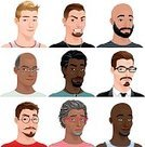 Vector,Avatar,People,Cartoon,Illustration,Men,Isolated