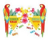 Tropical Rainforest,Summer,typographical,Animal,Greeting Card,Pineapple,Parrot,Marketing,Heat - Temperature,Summer Sale,Blue,Backgrounds,Bird,Vector,Palm Leaf,Backdrop,Sale,Brochure,Store,Computer Graphic,Fruit,Triangle Shape,Vacations,template,Plan,Geometric Shape,Invitation