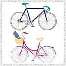 Symbol,Retro Styled,1940-1980 Retro-Styled Imagery,Isolated,Picture Frame,Cycling,Computer Icon,Pink Color,Basket,handdrawn,Illustration,Vector,Cute,Lavender,Blue,Sign,Human Hand,Drawing - Activity,Sport,Bicycle,Transportation,Multi Colored
