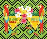 Tropical Rainforest,Summer,typographical,Animal,Greeting Card,Pineapple,Parrot,Brochure,Store,Sale,Palm Leaf,Backdrop,Bird,Vector,Summer Sale,Blue,Marketing,Heat - Temperature,Striped,Backgrounds,Computer Graphic,Triangle Shape,Vacations,template,Geometric Shape,Fruit,Invitation