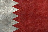 Arabia,Flag Of Bahrain,Flag,Bahrain,Cracked,Wall - Building Feature,Sign,Symbol,Identity,Full Frame,Middle East