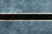 Cracked,Botswanan Flag,Flag,Botswana,Wall - Building Feature,Textured,Southern Africa,Sign,Symbol,Identity,Africa