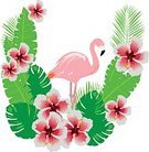 Romance,Flower,Flamingo,Tropical Climate,Background,Banner,Plant,Animal Wildlife,Animal,Hibiscus,Beauty,Ornate,Blob,Tropical Rainforest,Beautiful People,Summer,Illustration,Nature,Leaf,Animal Markings,Banner - Sign,Single Flower,Bird,Forest,Backgrounds,Beauty In Nature,Vector,Design,Red,Pattern,Floral Pattern,Pink Color,Green Color