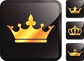 Crown,Gold Colored,Gold,Symbol,Vector,Nobility,Computer Icon,Ilustration,Label,Computer Graphic,Design,Shiny,White Background,Power,Digitally Generated Image