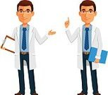 Cartoon,Characters,Vector,Males,Men,General Practitioner,Scientist,Doctor,People,Male Beauty,Smiling,Cheerful,Professional Occupation,Lab Coat,Young Adult,Healthcare And Medicine,Illustration