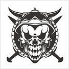 Sign,Vector,skul,Illustration,Scull,Flag,Depression - Sadness,Backgrounds,Woodcut,Tattoo,Cheerful,Halloween,Symbol,People,roger,Skull and Crossbones,Pirate - Criminal,Sword