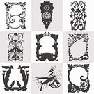 Pattern,Design,Picture Frame,Painted Image,Backgrounds,Sign,Single Flower,Characters,Branch,Flat,Black Color,Stick - Plant Part,template,Flourish,Set,Fantasy,Abstract,Tattoo,Silhouette,Ribbon,Animal Wing,Symbol,Frame,Coat Of Arms,Bird,Greeting,Decoration,Cut Out,Ornate,Record,Label,Vector,Isolated,Flower,Ethnic,Brooch,Jewelry,Floral Pattern,Exoticism