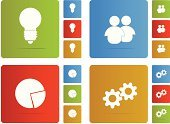 Gear,Red,Business,People,Electric Lamp,Chart,Ideas,Computer Icon,Vector,Multi Colored,Computer Graphic,Symbol,Design Element,Blue,Design,Yellow,White Background,Green Color