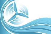 Wind,Wind Turbine,Turbine,Curve,Wind Power,Alternative Energy,Vector,Electricity,Blue,Backgrounds,Generator,Wave Pattern,Clip Art,Environmental Conservation,Technology,Vector Backgrounds,Copy Space,Illustrations And Vector Art,Technology Backgrounds