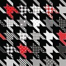Abstract,Curve,Geometric Shape,Houndstooth,Patchwork,Continuity,Vector,Backgrounds,Backdrop,Repetition,Seamless,Pattern