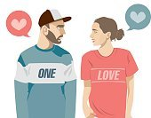 Love,Illustration,Clip Art,Computer Graphic,Adult,Brown Hair,Beautiful People,Women,Men,Love At First Sight,Young Women,Beauty,Vector,Emotion,Digitally Generated Image,Youth Culture,Design Element,Fashionable,Modern,People,Males,Females,Young Adult