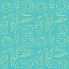Abstract,Art And Craft,Art,Doodle,Holiday - Event,Cartoon,Summer,Illustration,Wrapping Paper,Seamless Pattern,Travel,Drawing - Activity,Season,Backgrounds,Ice,Fun,Sun,Vector,Design,Sun,Ice,,Pattern,Vacations,Textile