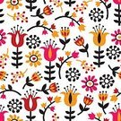 No People,Cute,Illustration,Nature,Seamless Pattern,Backgrounds,Vector,Pattern