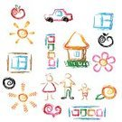 Family,Sign,Symbol,House,Mother,Computer Icon,Window,Car,Heart Shape,Vector,Apple - Fruit,Sun,Design,Love,Ilustration,Father,Flower,Design Element,Orange - Fruit,Son,Isolated Objects,Lifestyle,Vector Icons,Families,Illustrations And Vector Art