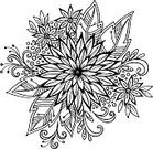 Decoration,Vector,Floral Pattern,Silhouette,Leaf,Outline,Pattern,Computer Graphic,Petal,Ornate,abloom,Lush Foliage,black-and-white,Flower Head,Flower,Plant,foliagé,Abstract,Curve,Growth,Stem,Circle,White,Illustration,Isolated,Black Color,Blossom,Blossoming,Drawing - Art Product,Black And White,Cut Out