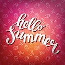 Typescript,Handwriting,Text,Summer,Computer Graphic,Season,Drawing - Activity,Calligraphy,Backgrounds,Vector