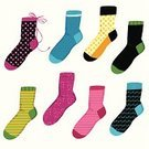 Sock,Clothing,Striped,Wool,Warm Clothing,Woven,Textile,Polka Dot,Spotted,Cotton,Ribbon,Casual Clothing,Multi Colored,Fashion,People,Star Shape,Cheerful,Beauty And Health