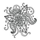 Ornate,Nature,Design Element,Doodle,Beautiful,Beauty In Nature,Outline,Fantasy,Art,Isolated,Design,Abstract,Vector,Plant,Black And White,Coloring,Pattern,Tentacle,Floral Pattern,Flower,Illustration,Backgrounds