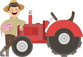Farm,Facial Expression,Fat,Field,Happiness,Equipment,Cutting,Country - Geographic Area,Rural Scene,Country and Western Music,Non-Urban Scene,Crop,Hat,Healthy Lifestyle,Occupation,Pitchfork,Standing,Tractor,Land Vehicle,One Person,Single Object,People,House,Image,Isolated,Mascot,Real People,Working,Farmer,Human Face,Overweight,Food,Harvesting,Animal,Art,Animated Cartoon,Characters,Cartoon,Backgrounds,Painted Image,Haystack,Agriculture,Merchandise,Pig,Red,Straw,Vector,Bib Overalls,Nature,House,Illustration,Industry,Machinery,Holding
