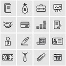 Marketing,Teamwork,Business,Set,Icon Set,Computer Icon,Ideas,Straight,Vector,Symbol,In A Row,Illustration,Black Color,Currency,Outline,Global Communications,user,People