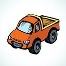 Cartoon,Illustration,Car,Small,Truck,Isometric,Headlight,Drawing - Art Product,Sketch,Vector,Vibrant Color,Old,Red,Wheel,Delivering,Van - Vehicle,Silhouette,Mini Van,Toy,Land Vehicle,Freight Transportation,Doodle,Model - Object,Obsolete,Childishness,Childhood,Transportation,Leisure Games,Orange Color