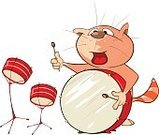 Bass,Equipment,Humor,Happiness,Musical Instrument,Classical Style,Cheerful,Animal,Percussion Instrument,Tabby Cat,Smiling,Armed Forces,Drawing - Activity,Popular Music Concert,Classical Concert,Domestic Animals,Drum - Percussion Instrument,Feline,Undomesticated Cat,Domestic Cat,Fun,Jazz Music,Music,Cut Out,Art And Craft,Art,Cute,Rolled Up,Composer,Caricature,Illustration,Cartoon,Drum Kit,Painted Image,Animation - Moving Image,Drummer,Group Of Objects,Kitten,Pets,Rock Music,Performing Arts Event,Characters,Classical Music,Animated Cartoon,Performance Group,Arts Culture and Entertainment,Avatar,71172
