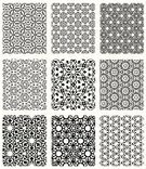 Pattern,Arabic Style,Islam,Seamless,Geometric Shape,Vector,Backgrounds,Black Color,White,Floral Pattern,Repetition,Black And White,Ilustration,Silhouette,Symmetry,Wallpaper Pattern,Design Element,Set,No People,Isolated,Vector Backgrounds,Illustrations And Vector Art,Small Group of Objects,Isolated On White