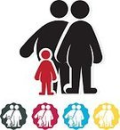 Child,Adult,Men,Women,Fat,Illustration,Family,Overweight,Family with One Child,Fat,Two Parents,Lifestyles,Vector
