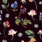 Pattern,Seamless,Illustration,Watercolor Painting,Backgrounds,Flower