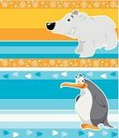 Penguin,Cartoon,Backgrounds,Young Animal,Fun,Animal,Bear,Set,Label,Snowflake,Characters,Cute,Animals And Pets,Wild Animals,Animal Backgrounds,Image,Nature,Religious Icon,Ilustration,Small,Vector