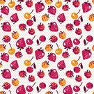 Nature,Currant,Food,Ornate,Illustration,Pattern,Vector,Decoration,Decor,Wrapping Paper,repeating pattern,Cultures,Boho,Vitamin,Multi Colored,Backgrounds,Yellow,Barry Island,Branch,Rustic,Seamless,White Background,Textile,Fruit,Computer Graphic,Summer,Raspberry,Folk Music,Rural Scene,Red,Farm Worker,Cherry