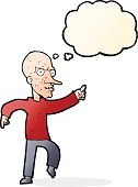 Cheerful,Drawing - Activity,Doodle,Bizarre,Clip Art,Illustration,Cute,Senior Adult,Vector,freehand,Thought Bubble,Men
