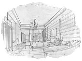 Drawing - Activity,Art,Illustration,Pencil,Vanishing Point,Furniture,Modern,Concepts,Pen,Toilet,rendering,Home Interior,Colors,Drawing - Art Product,Decoration,Decor,Architecture,Lined Pattern,Hotel,Bedroom,Space,Indoors,Backgrounds,White,Lifestyles,Design,Sketch,Domestic Room