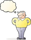 Cheerful,Drawing - Activity,Doodle,Bizarre,Clip Art,Illustration,Cute,Mature Adult,Vector,freehand,Thought Bubble,Men