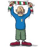 Ultra,Characters,Humor,Italy,One Person,Soccer,Spectator,Cute,Cartoon,Cheerful,Illustration,People,Sport,Sports Team,Fan - Enthusiast,Soccer Ball,Playing,Character,Flag,Italian Culture,Furious,Fun,Vector,Design,Front View,Shouting,Cheering,Singing,Screaming,Scarf,Crying,Standing